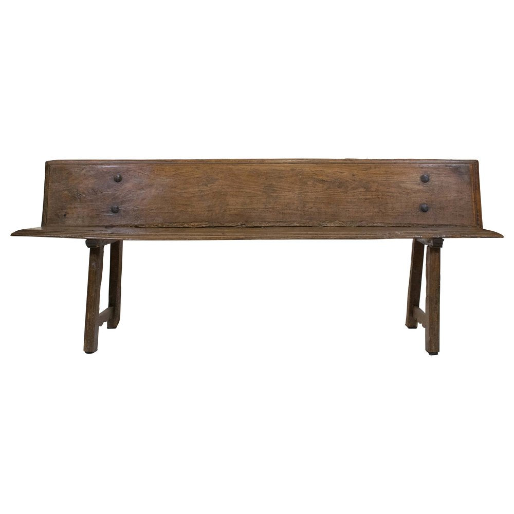 18th Century Spanish Bench Seat in Chestnut