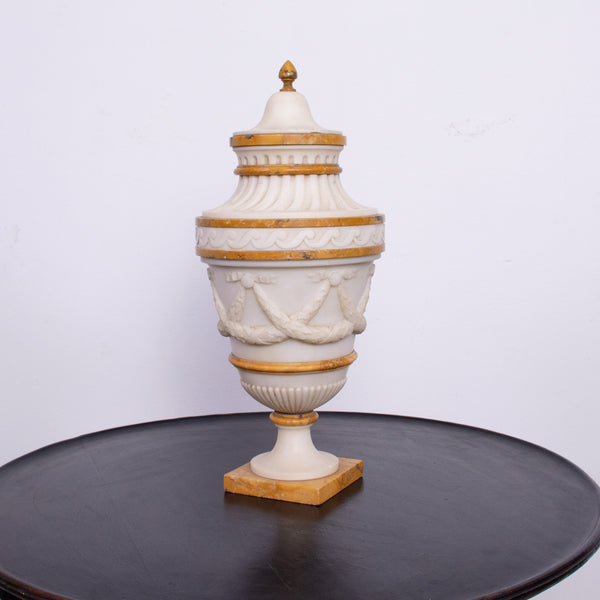 Antique Italian Neo-Classical Marble Urn