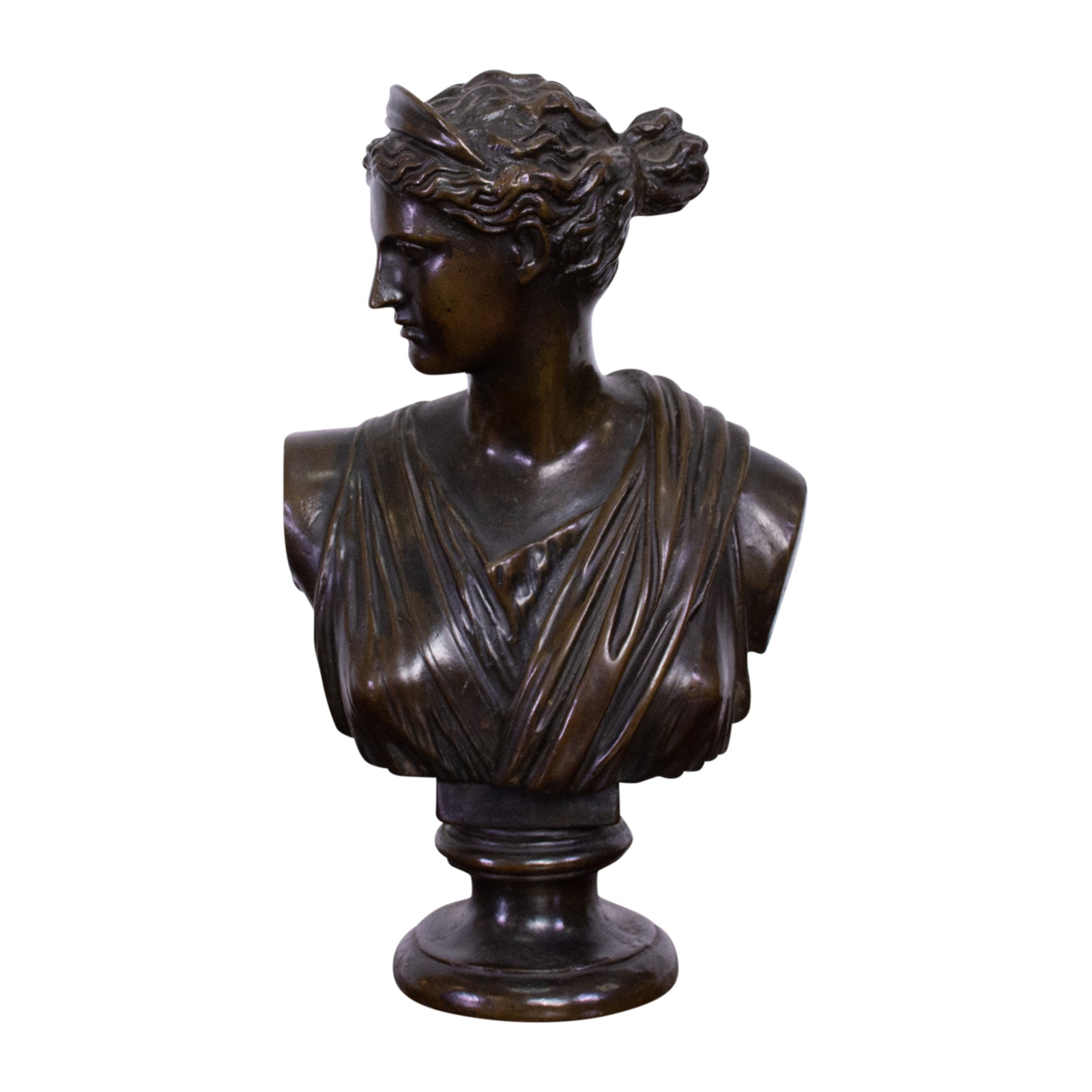 19th Century Bronze Bust of Diana