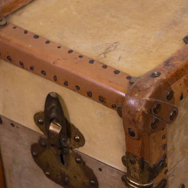 Early 20th Century Vellum Suitcase