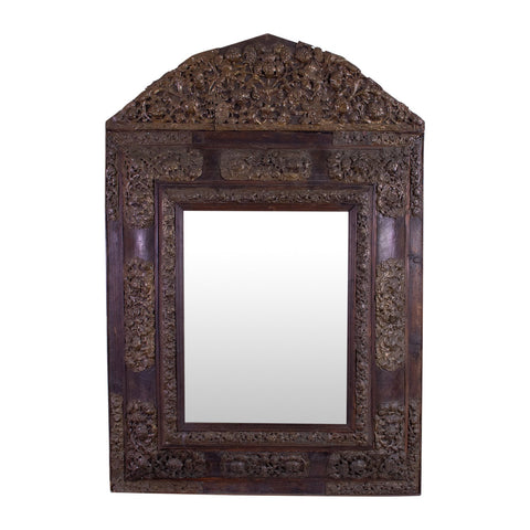 A 19th Century Flemish Brass Repusse Mirror