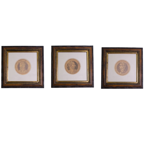 Set of three classical Prints of Roman Emperors