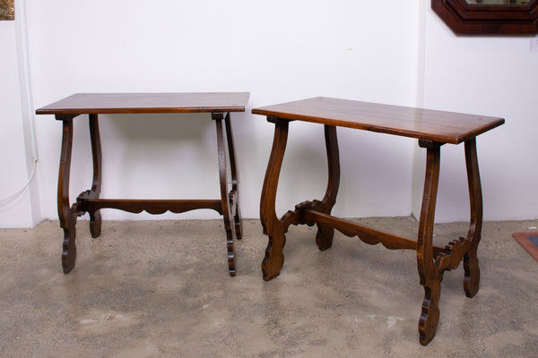 A Pair of Spanish Provincial style Oak Side Tables