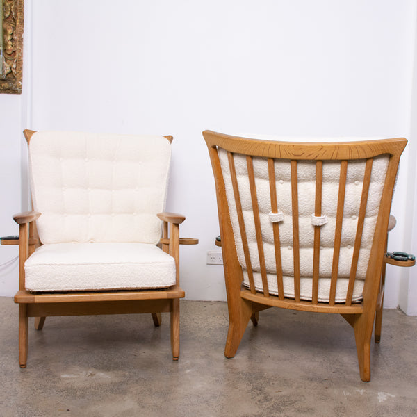 Pair of Guillerme et Chambron Armchairs