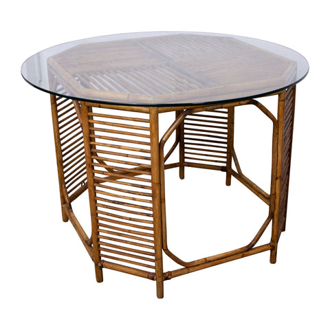 1960s Circular Cane Table