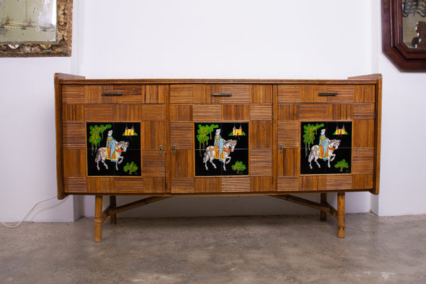 A Vintage Pencil Reed Sideboard