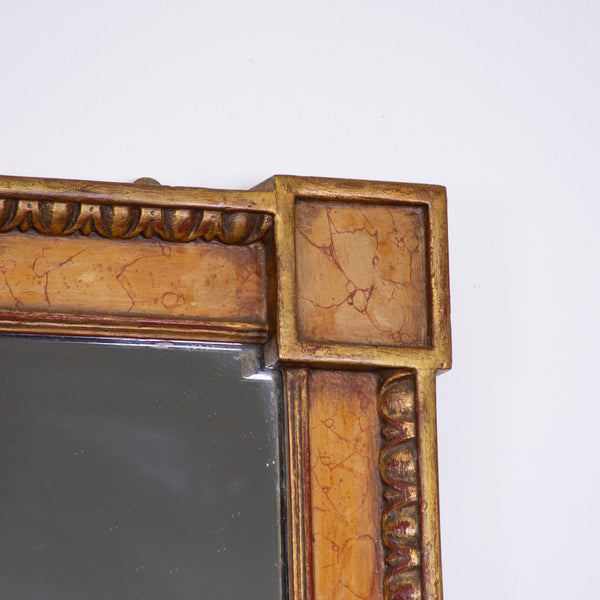 A large gilded and Marbilsed Neo-Classical  Pier Mirror