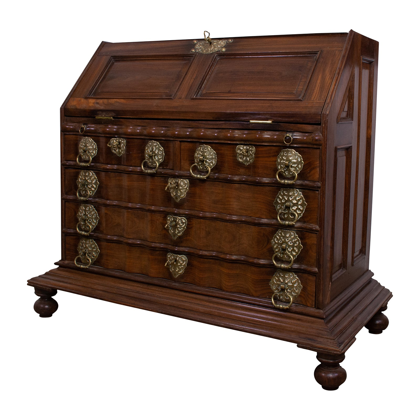 Colonial Portugese Fall Front Secretaire