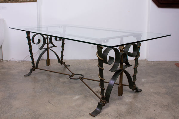 Art Deco Wrought Iron Table in the style of Gilbert Poillerat