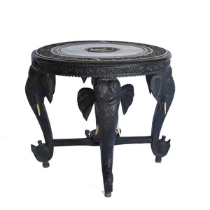 Intricately carved Anglo Elephant Indian Side Table