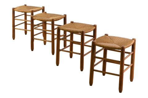 Set of Four Stools in The Tase of Charlotte Perridand