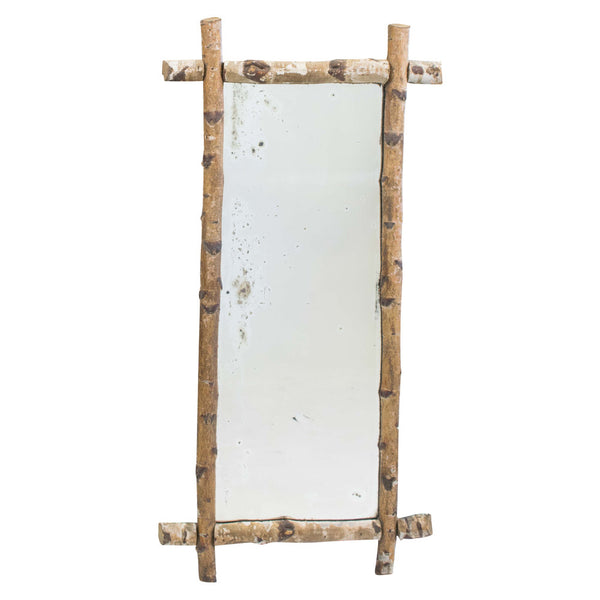 French 1940s Birch Wood Framed Mirrors