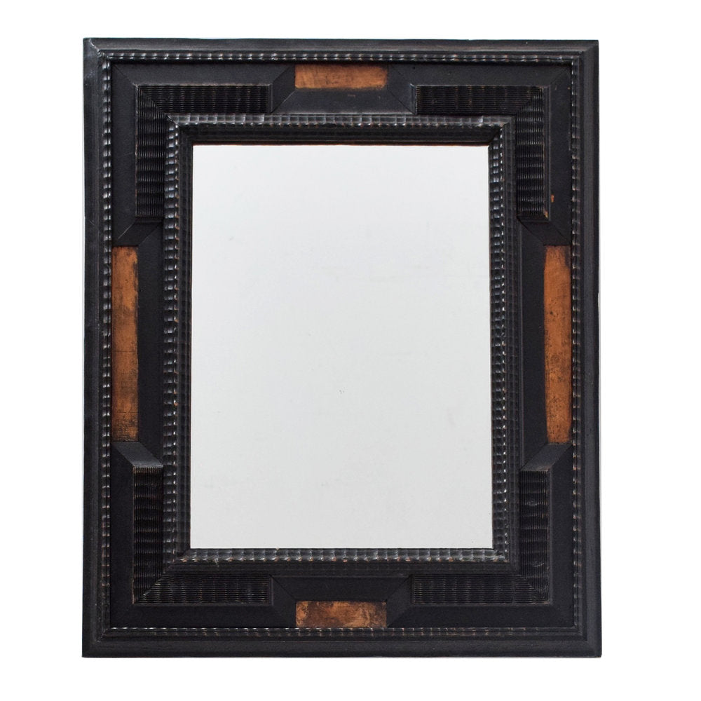 Antique Ebonised Flemish Baroque Mirror