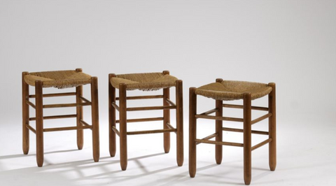 Set of Four Stools in The Tase of Charlotte Perriand