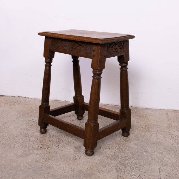 19th Century English Oak Joint Stool