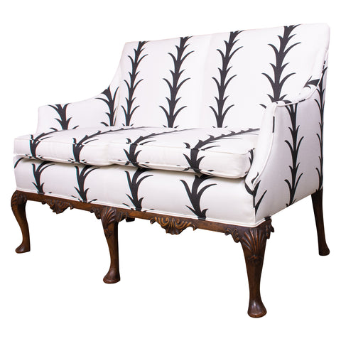 Antique Queen Anne Style Settee
