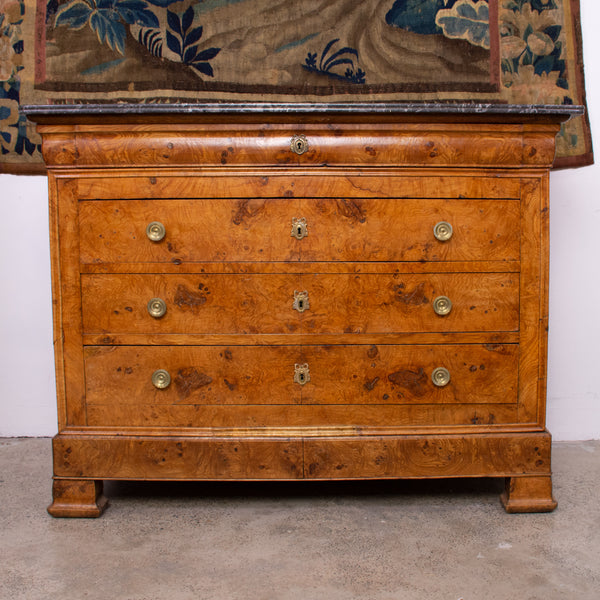 Charles X Burr Elm Commode