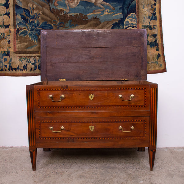 Antique Louis XVI Style Walnut Commode