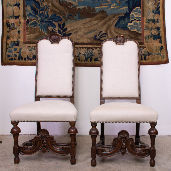 French High back side chairs