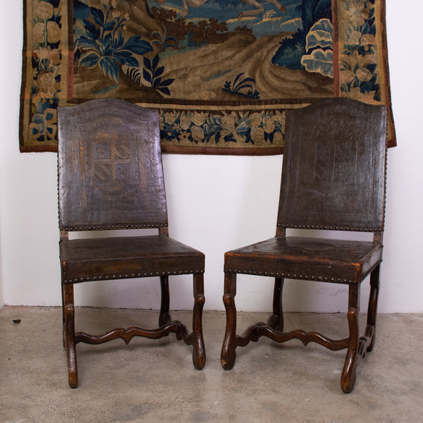 Pair of 19th century Os de Mouton Side Chairs