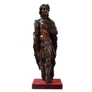 Antique Italian Carved Limewood Figure