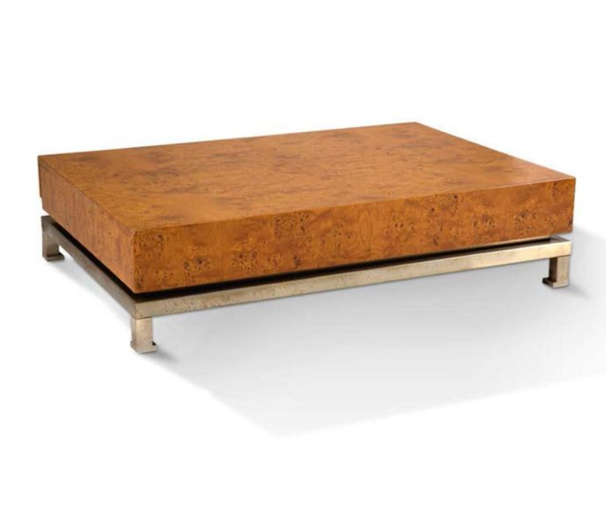 Italian 1960s Burr Walnut Coffee Table