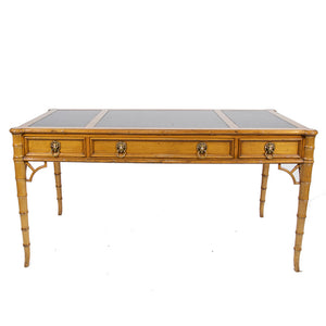 Mid-Century Regency Style Maple Writing Desk