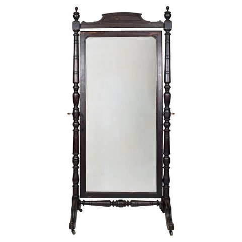 Large Antique French Cheval Mirror,