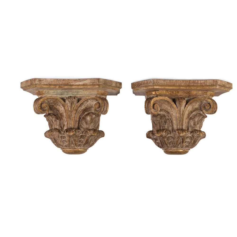 A Pair Of Neoclassical Giltwood Corbels