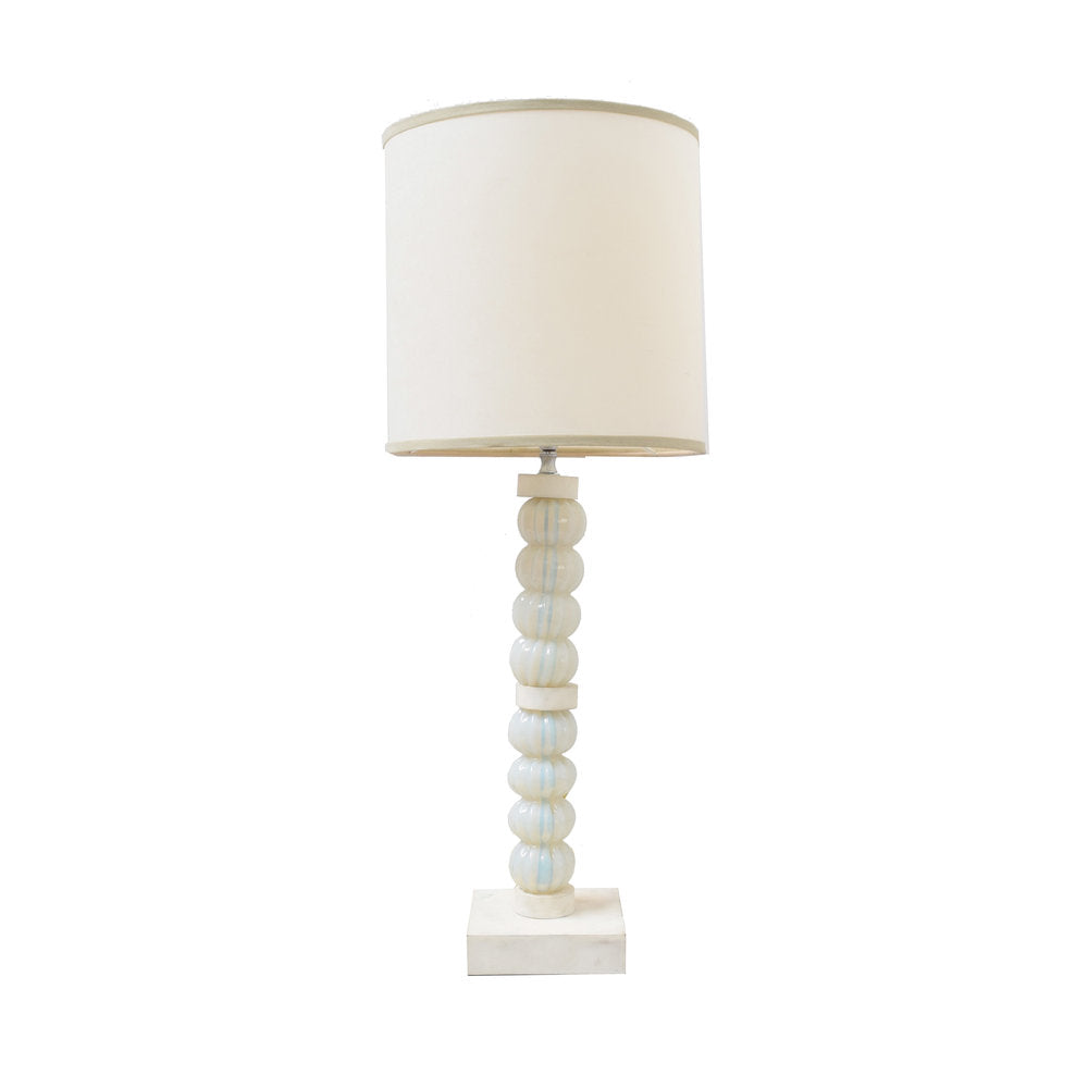 Venetian Milk Glass Lamp