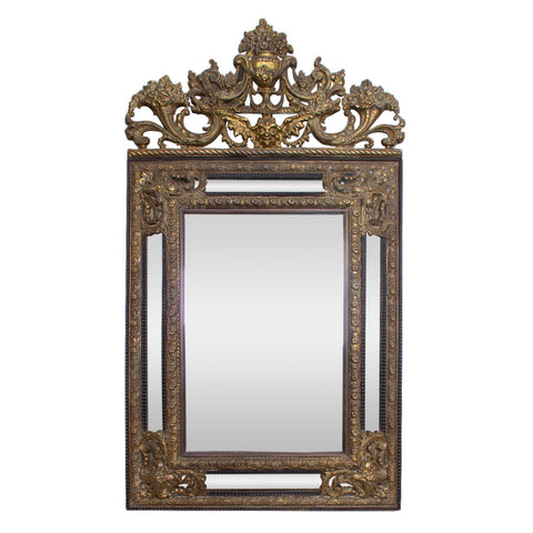 Napoleon III Repoussé Cushion Mirror