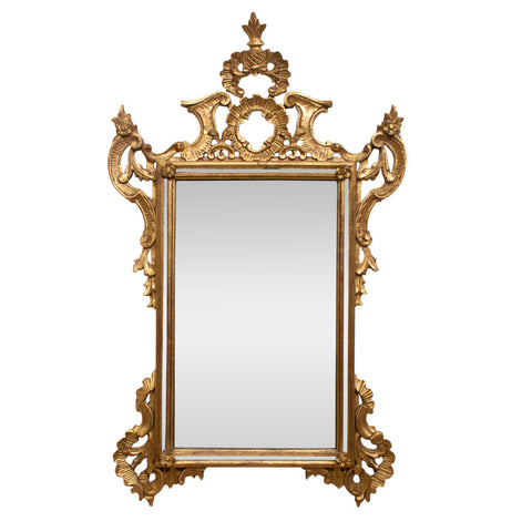 Italian Giltwood Rocco Cushion Mirror