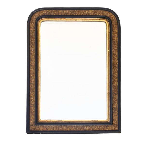 Antique Victorian Gilt and Ebonised Overmantel Mirror
