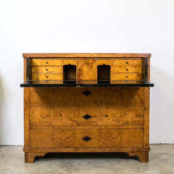 19th Century Biedermeier Bureau Commode