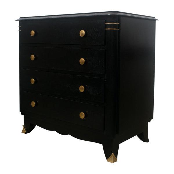 A Japanned Art Deco Commode in the Style of Jules Leleu