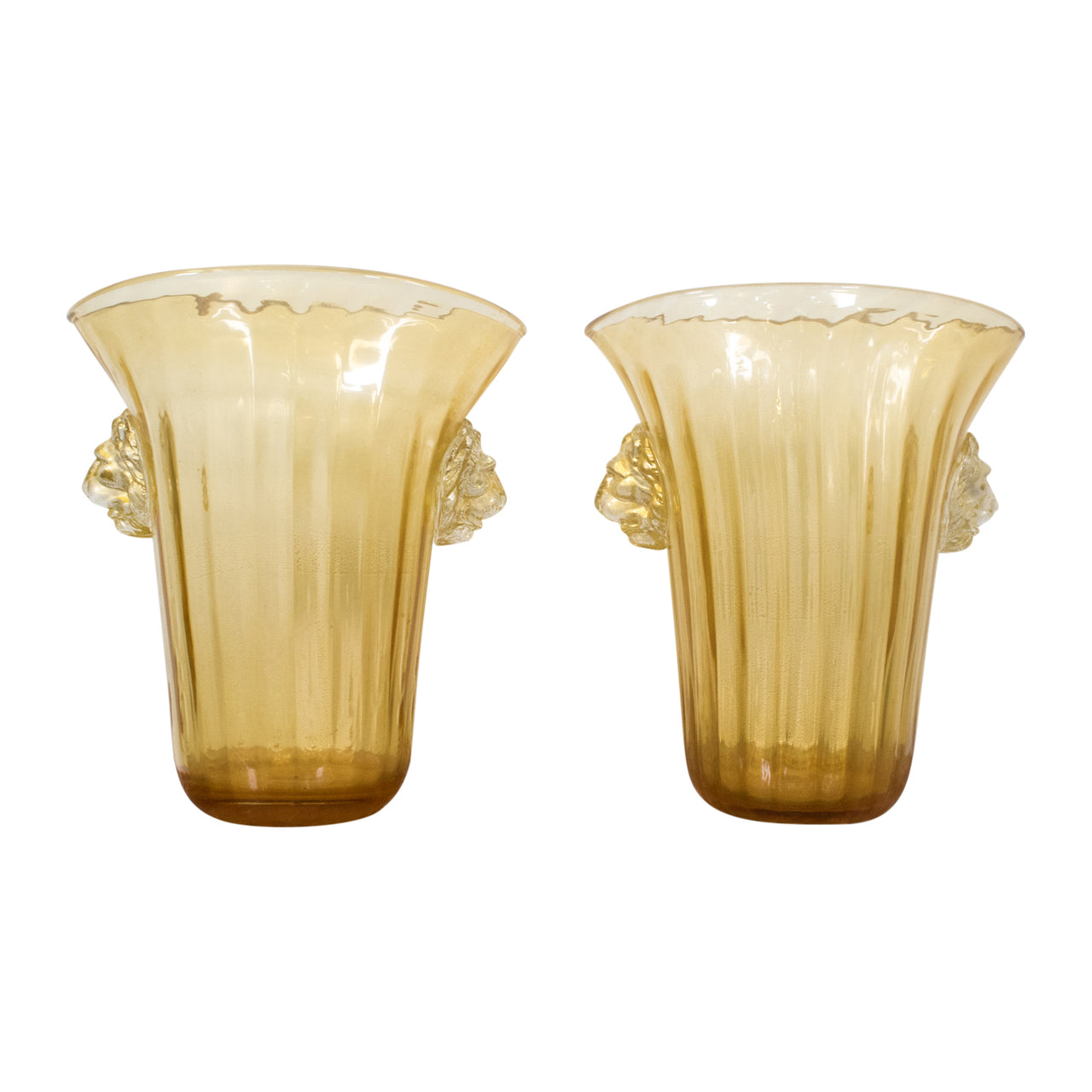 A Pair of Murano Vases by Pino Signoretto (1944-)