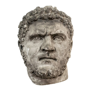 A 19th century plaster bust of Hercules