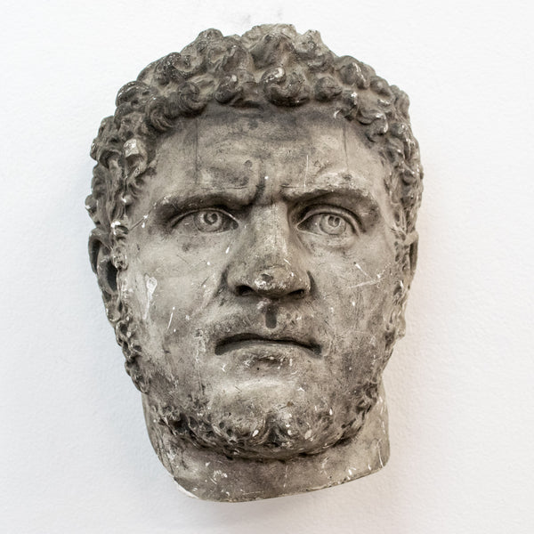 A 19th century plaster bust of Caracalla