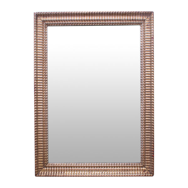 Small Louis XVI mirror with ribbed detail