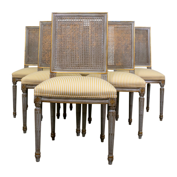 Set of six Louis XVI Style Side Chairs