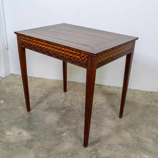 A 19th Century Herringbone Inlaid Side Table