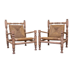 Pair Mid Century of Lounge Chairs attributed to Audoux and Frida Minet