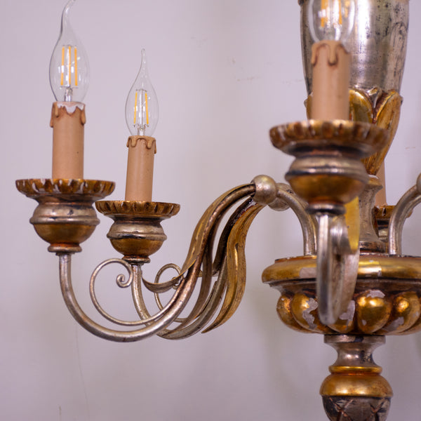 Mid 20th century Italian 6 Arm Chandelier