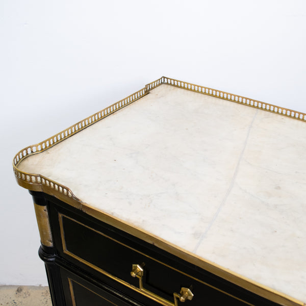 A 19th Century Directoire Style Ebonised Commode