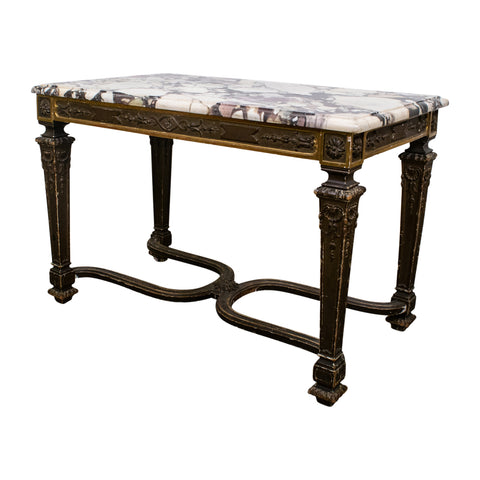 19th Century Louis XVI Style Viola Marble Topped Console