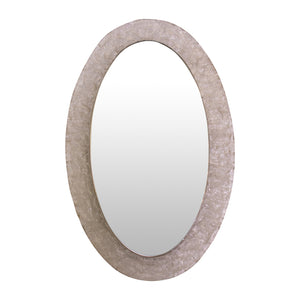 Lucite Oval illuminated Mirror