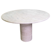 Vintage Circular Travertine Dining Table
