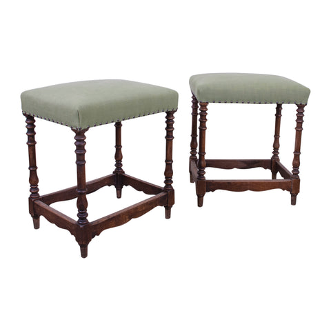 Pair of 19th Century Spanish Stools
