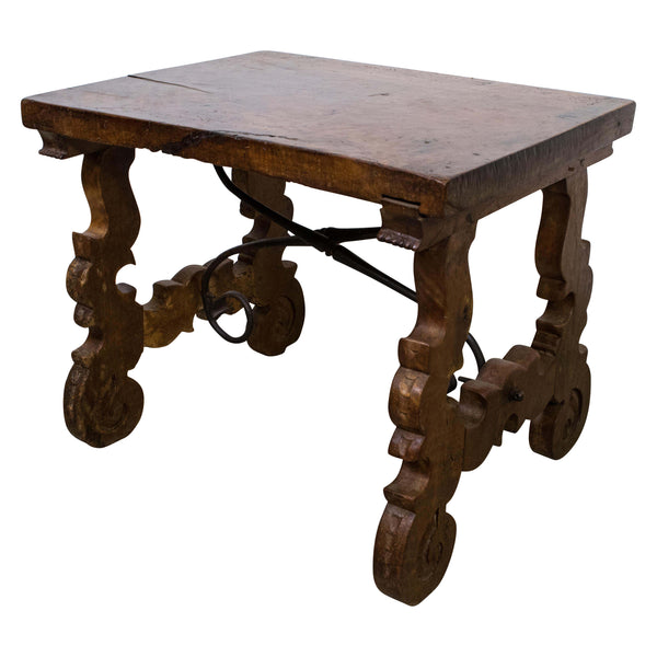 A Small Spanish 18th Century Churrigueresque Walnut Side/Coffee Table