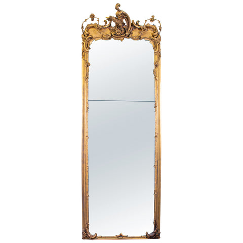 A Large George II Style Gilt Pier Mirror